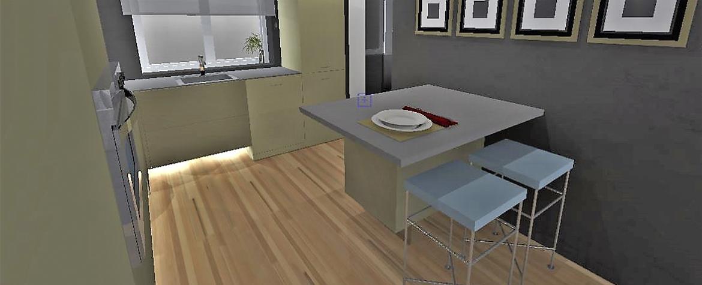 Formas asimétricas y módulos que flotan, así es la cocina de ensueño de Pulido Decoración. Foto 2.