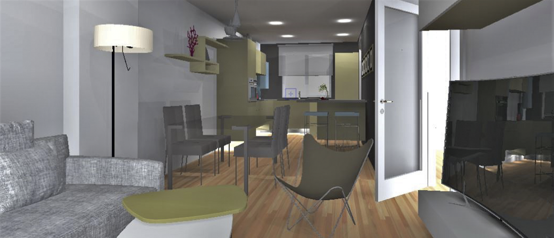 Formas asimétricas y módulos que flotan, así es la cocina de ensueño de Pulido Decoración. Foto 3.