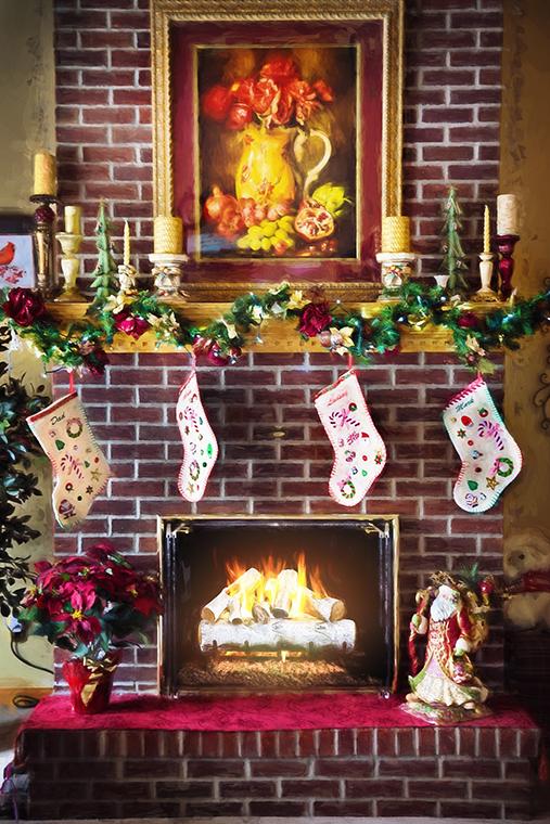 Trucos para ahorrar espacio en tus celebraciones navideñas. La entrada.. La chimenea.